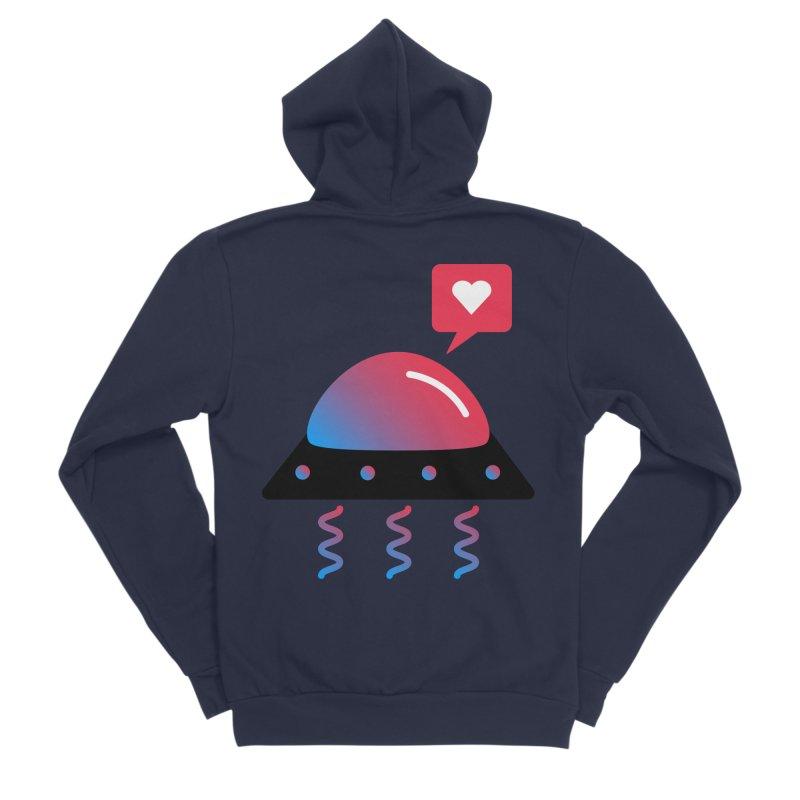 Space Love Men's Sponge Fleece Zip-Up Hoody by ashleysladeart's Artist Shop