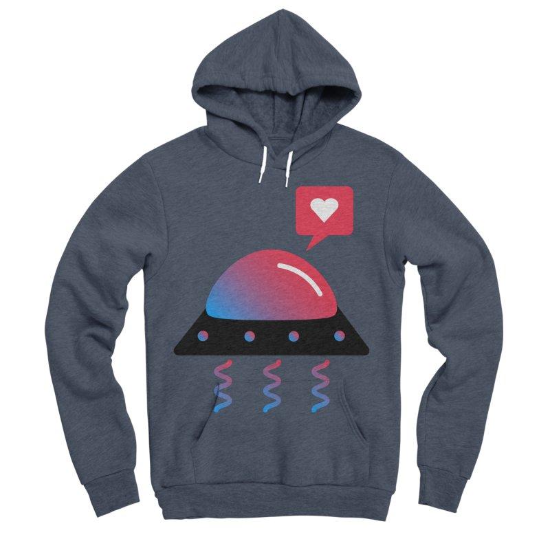 Space Love Men's Sponge Fleece Pullover Hoody by ashleysladeart's Artist Shop