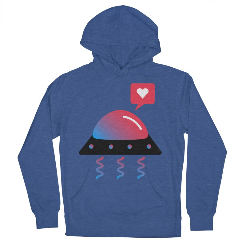 Space Love Women's French Terry Pullover Hoody by ashleysladeart's Artist Shop