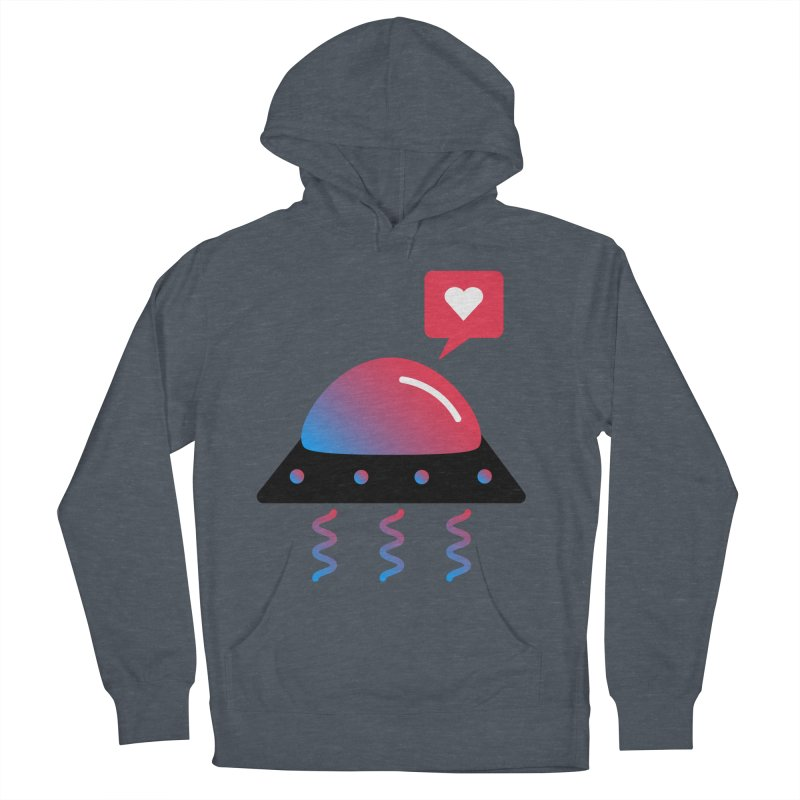 Space Love Men's French Terry Pullover Hoody by ashleysladeart's Artist Shop