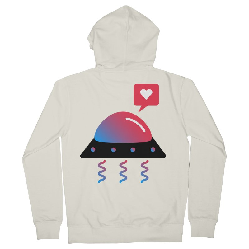 Space Love Women's French Terry Zip-Up Hoody by ashleysladeart's Artist Shop