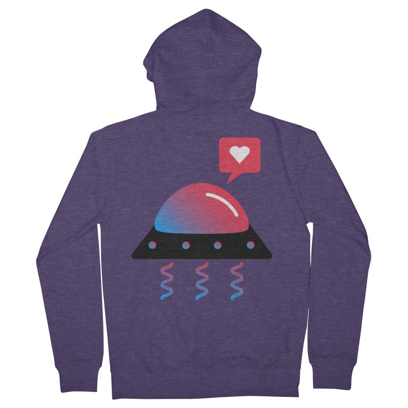 Space Love Men's French Terry Zip-Up Hoody by ashleysladeart's Artist Shop