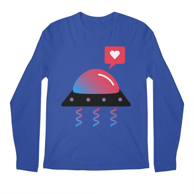 Space Love Men's Regular Longsleeve T-Shirt by ashleysladeart's Artist Shop