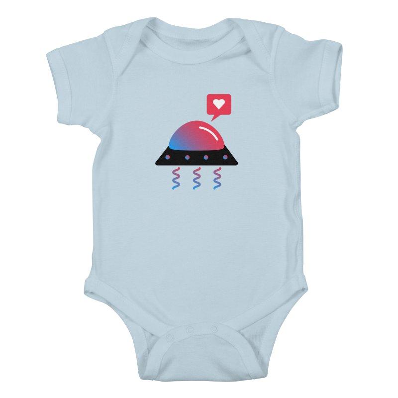 Space Love Kids Baby Bodysuit by ashleysladeart's Artist Shop