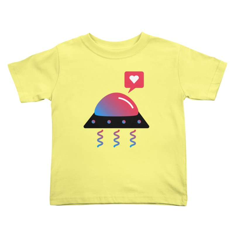 Space Love Kids Toddler T-Shirt by ashleysladeart's Artist Shop
