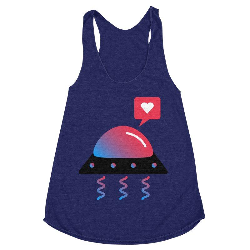 Space Love Women's Racerback Triblend Tank by ashleysladeart's Artist Shop