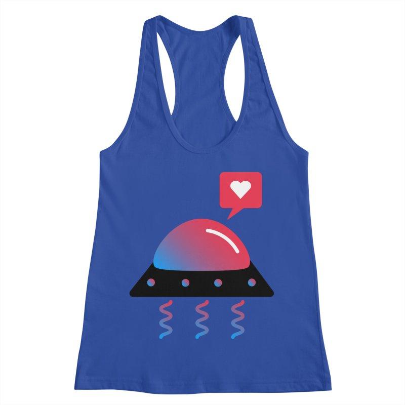 Space Love Women's Racerback Tank by ashleysladeart's Artist Shop