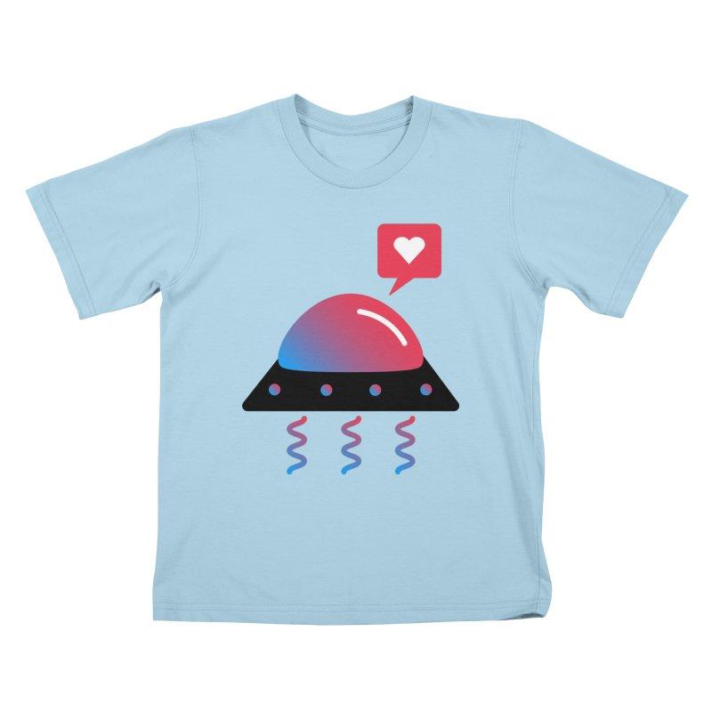 Space Love Kids T-Shirt by ashleysladeart's Artist Shop