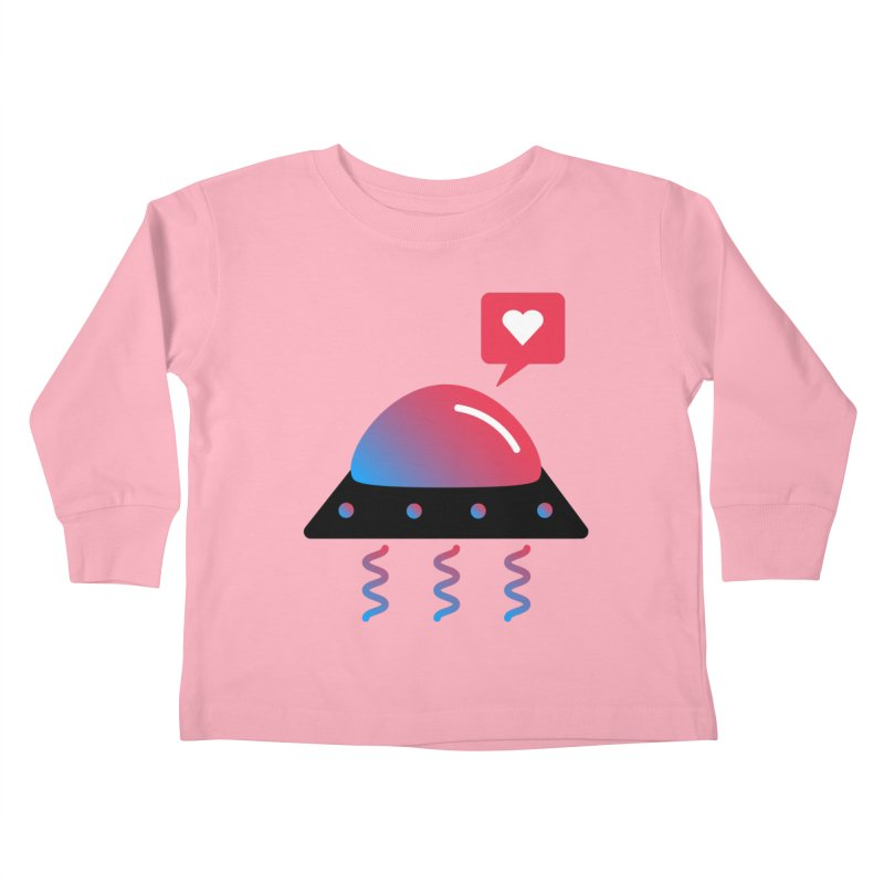 Space Love Kids Toddler Longsleeve T-Shirt by ashleysladeart's Artist Shop