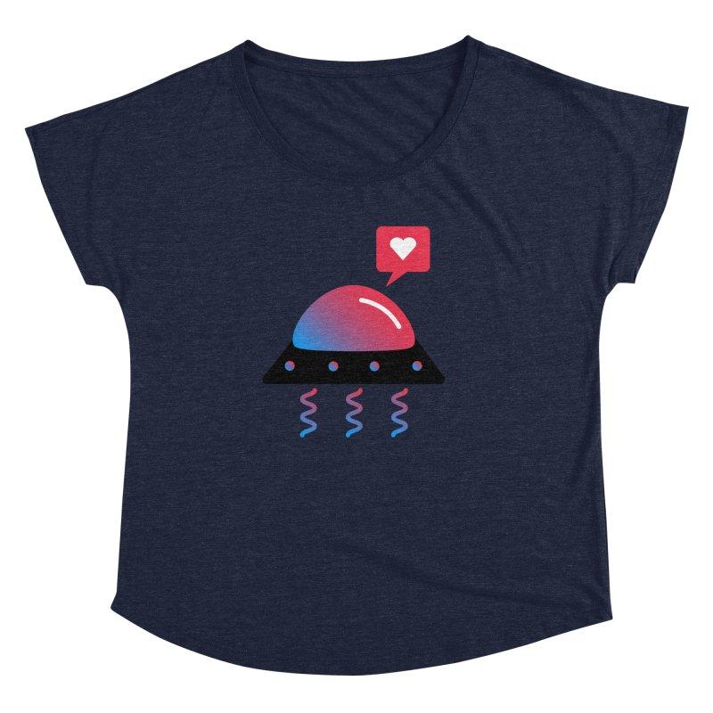 Space Love Women's Dolman Scoop Neck by ashleysladeart's Artist Shop