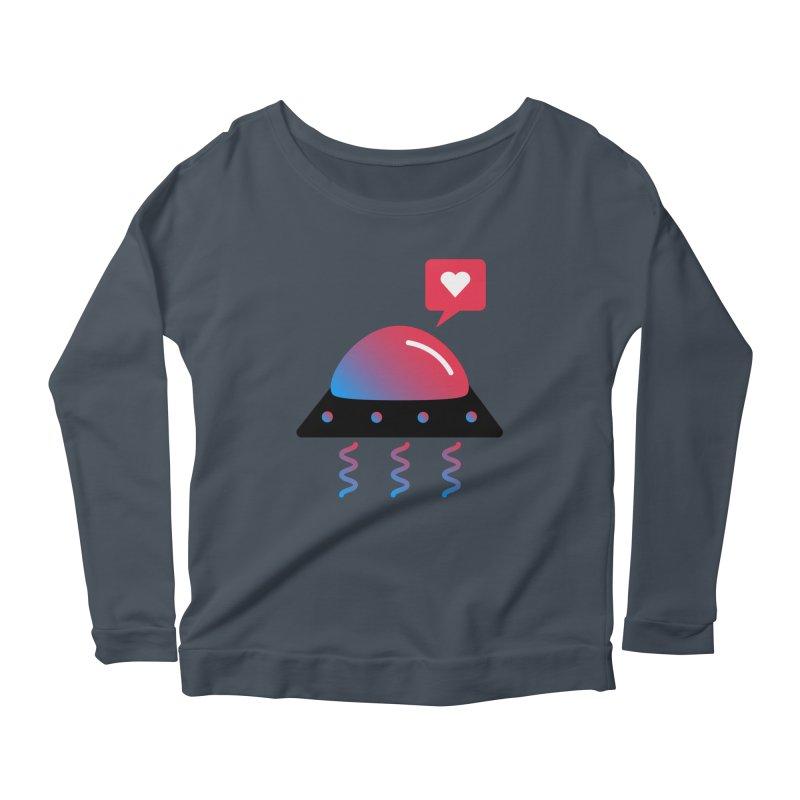 Space Love Women's Scoop Neck Longsleeve T-Shirt by ashleysladeart's Artist Shop