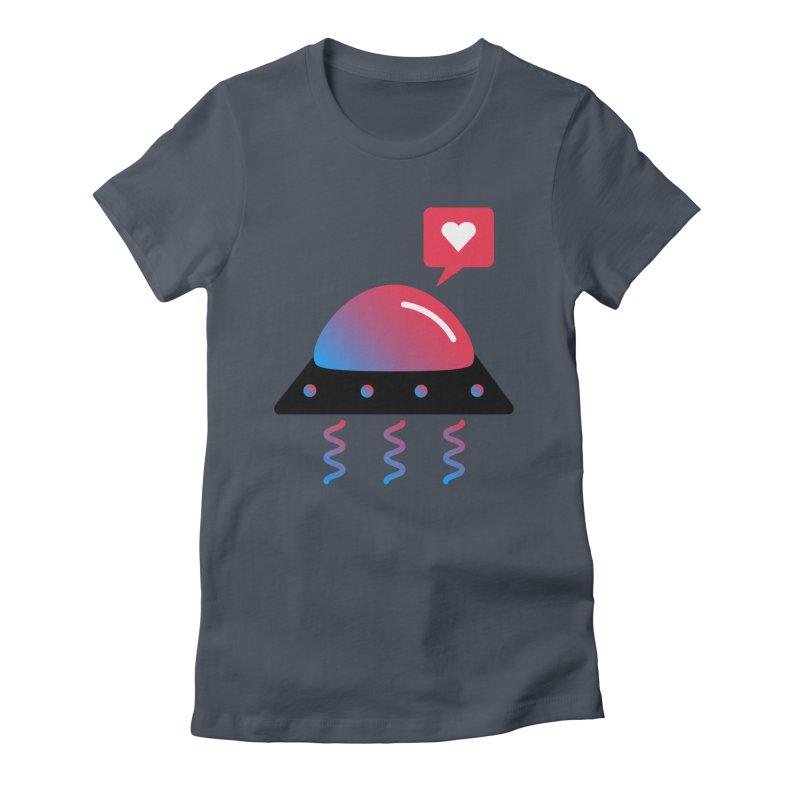 Space Love Women's T-Shirt by ashleysladeart's Artist Shop