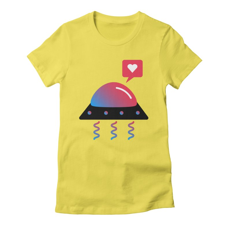 Space Love Women's Fitted T-Shirt by ashleysladeart's Artist Shop
