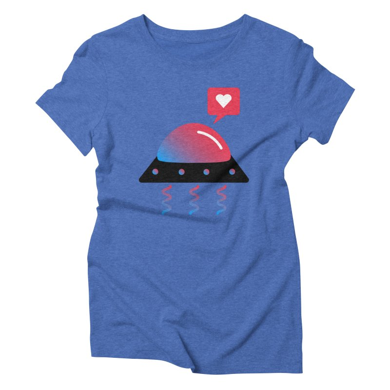 Space Love Women's Triblend T-Shirt by ashleysladeart's Artist Shop