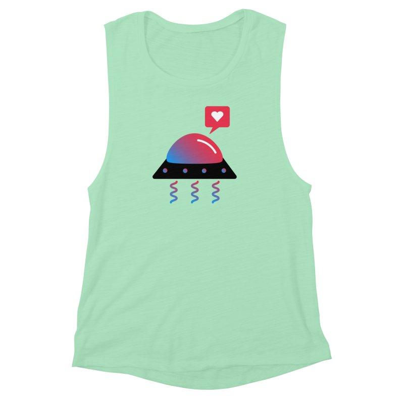 Space Love Women's Muscle Tank by ashleysladeart's Artist Shop