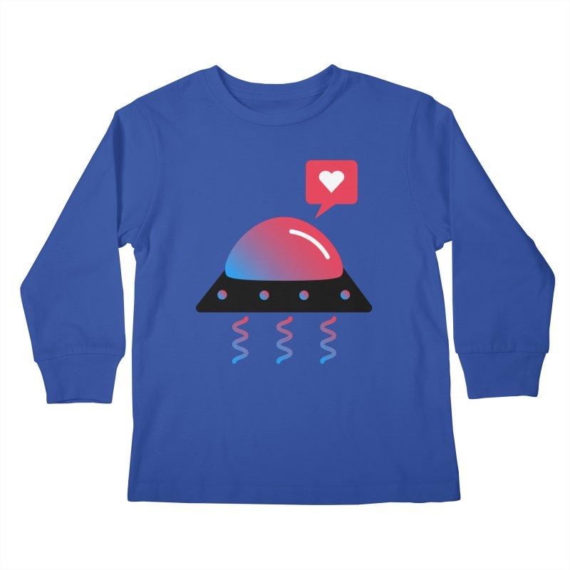 Space Love Kids Longsleeve T-Shirt by ashleysladeart's Artist Shop