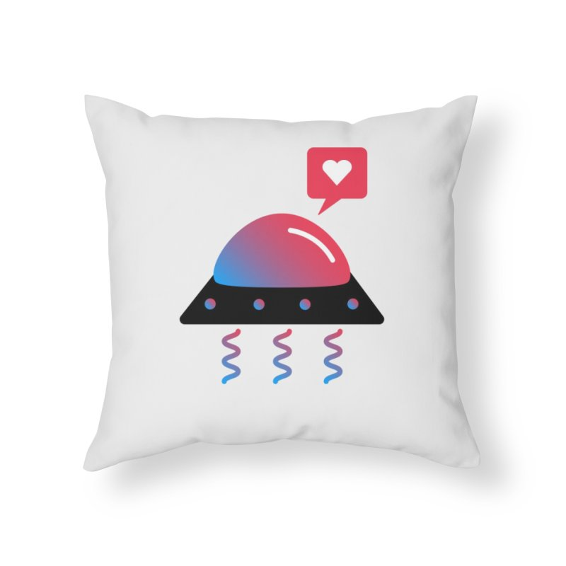 Space Love Home Throw Pillow by ashleysladeart's Artist Shop