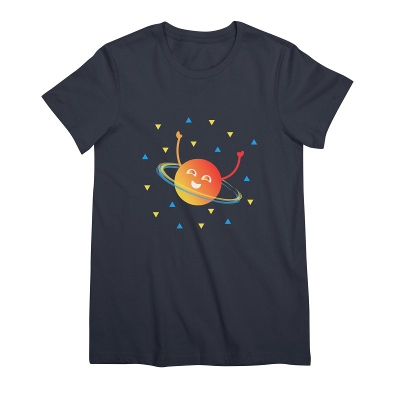 Party Planet Women's Premium T-Shirt by ashleysladeart's Artist Shop