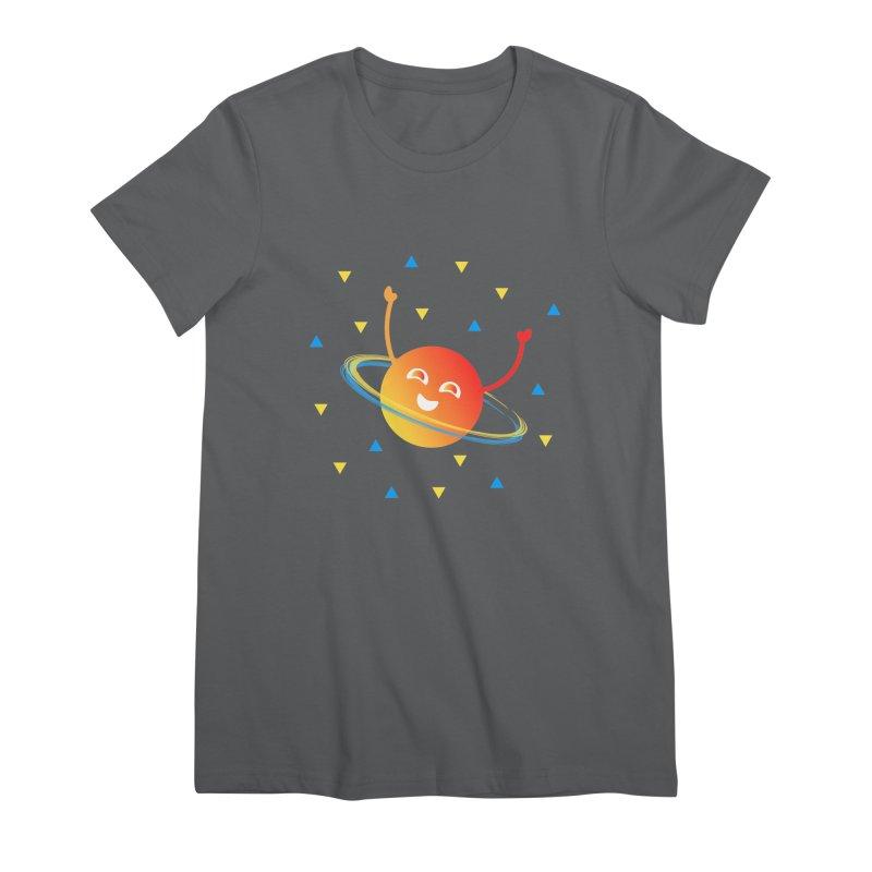 Party Planet Women's Premium T-Shirt by ashleysladeart's Artist Shop