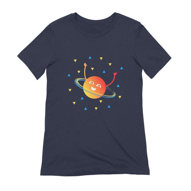 Party Planet Women's Extra Soft T-Shirt by ashleysladeart's Artist Shop