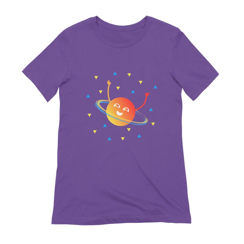 Party Planet Women's Extra Soft T-Shirt by ashleysladeart's Artist Shop