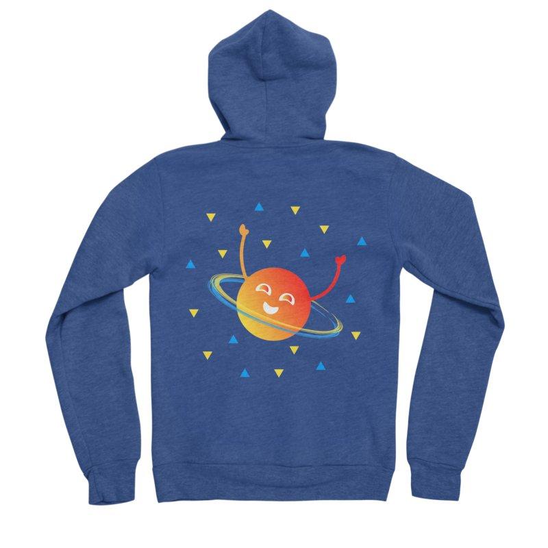 Party Planet Men's Sponge Fleece Zip-Up Hoody by ashleysladeart's Artist Shop