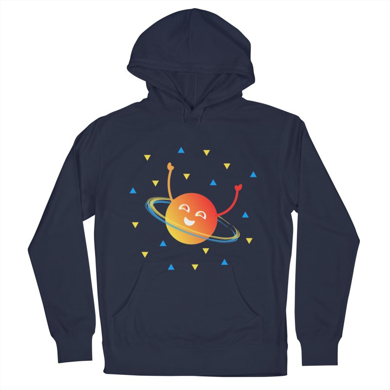 Party Planet in Women's French Terry Pullover Hoody Navy by ashleysladeart's Artist Shop