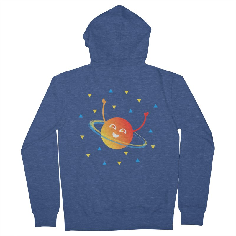 Party Planet Men's French Terry Zip-Up Hoody by ashleysladeart's Artist Shop