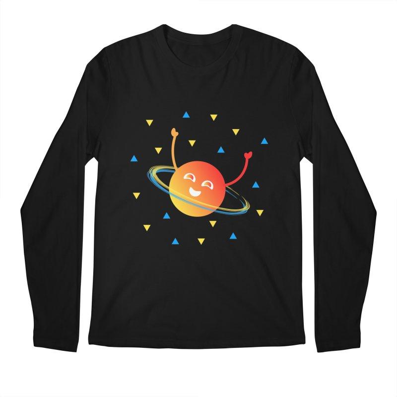 Party Planet Men's Regular Longsleeve T-Shirt by ashleysladeart's Artist Shop