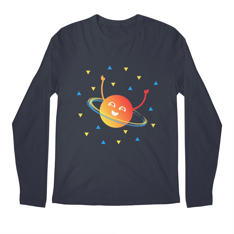 Party Planet Men's Regular Longsleeve T-Shirt by ashleysladeart's Artist Shop