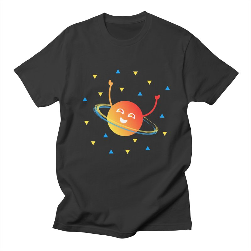 Party Planet Men's Regular T-Shirt by ashleysladeart's Artist Shop