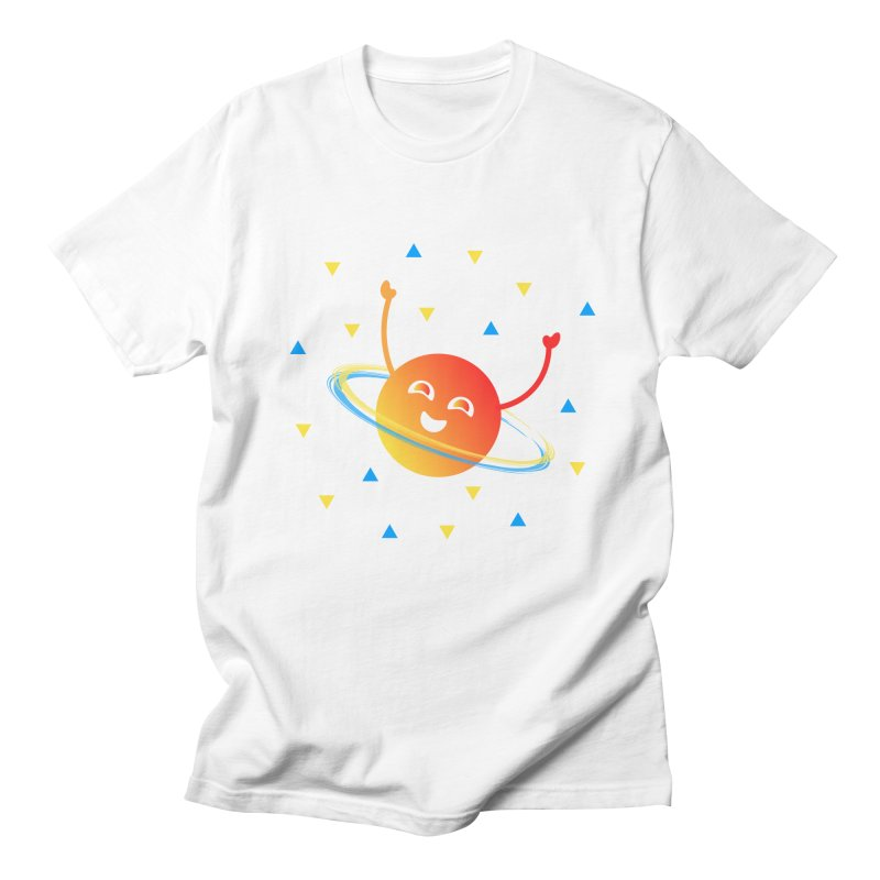Party Planet Men's Regular T-Shirt by ashleysladeart's Artist Shop