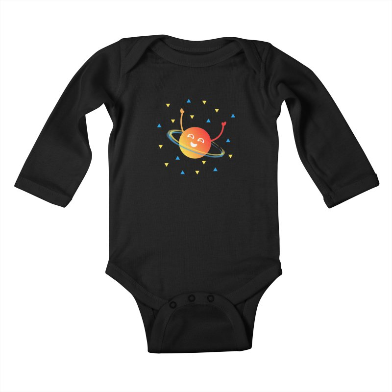 Party Planet Kids Baby Longsleeve Bodysuit by ashleysladeart's Artist Shop
