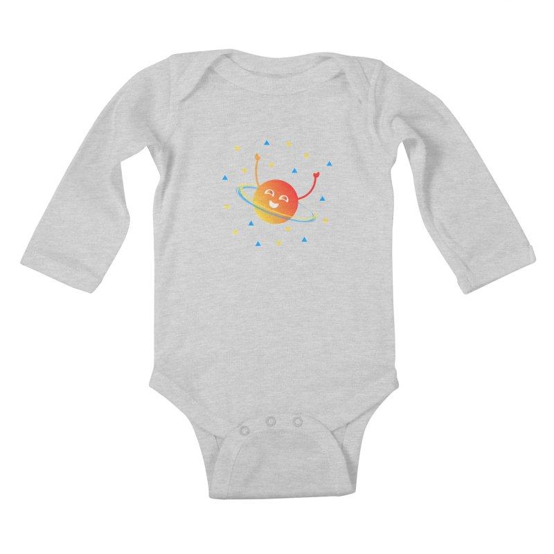 Party Planet Kids Baby Longsleeve Bodysuit by ashleysladeart's Artist Shop