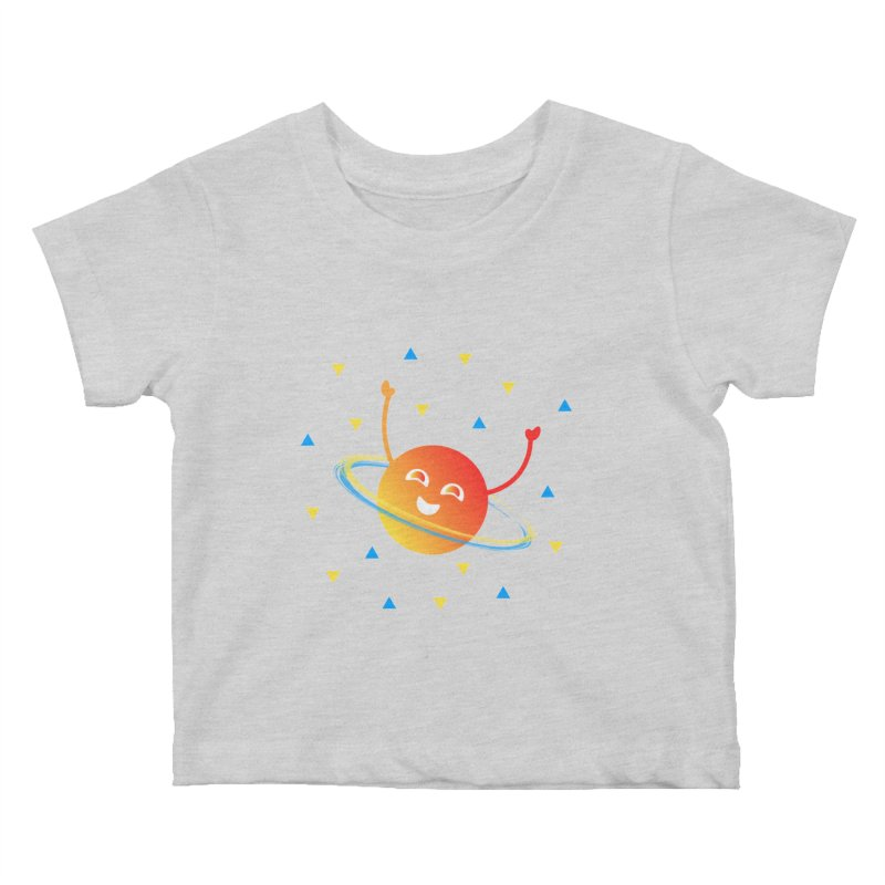 Party Planet Kids Baby T-Shirt by ashleysladeart's Artist Shop