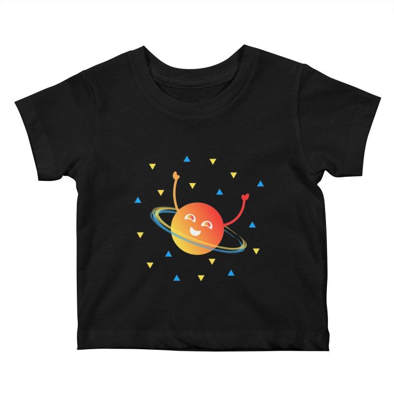 Party Planet Kids Baby T-Shirt by ashleysladeart's Artist Shop