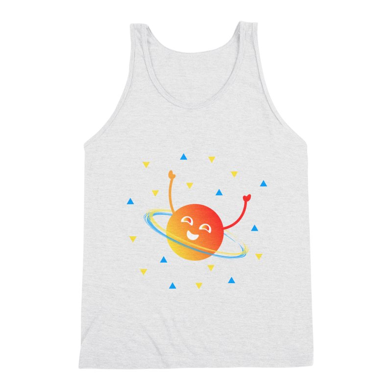 Party Planet Men's Triblend Tank by ashleysladeart's Artist Shop