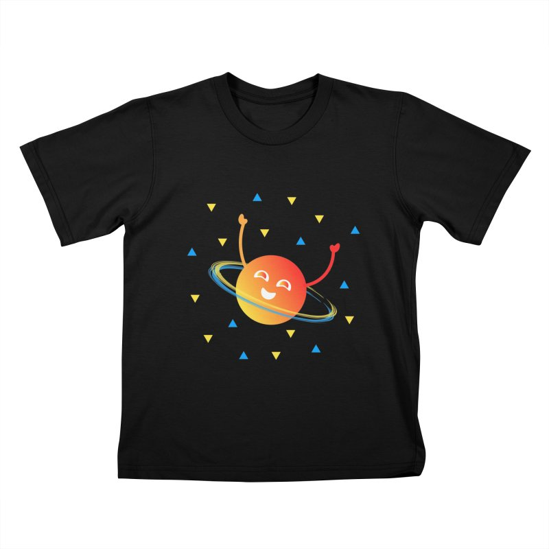 Party Planet Kids T-Shirt by ashleysladeart's Artist Shop