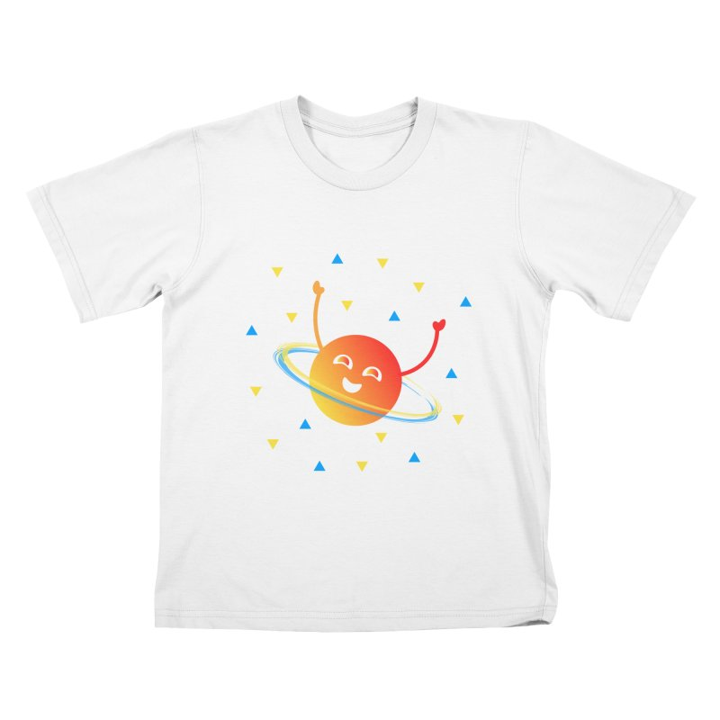 Party Planet Kids T-Shirt by ashleysladeart's Artist Shop