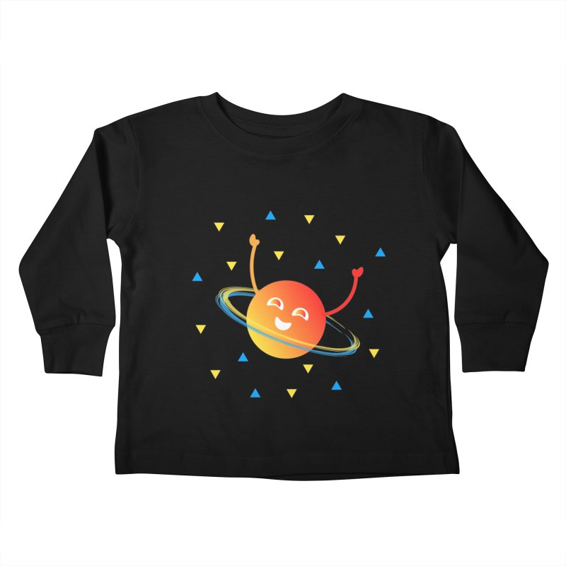 Party Planet Kids Toddler Longsleeve T-Shirt by ashleysladeart's Artist Shop