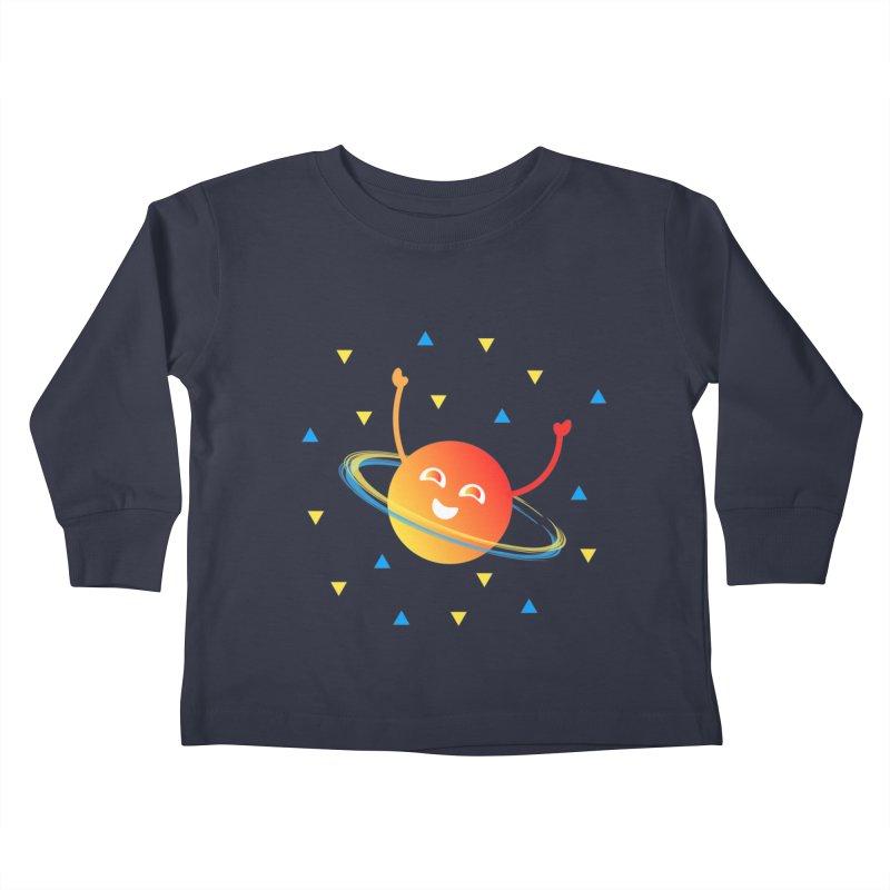 Party Planet Kids Toddler Longsleeve T-Shirt by ashleysladeart's Artist Shop