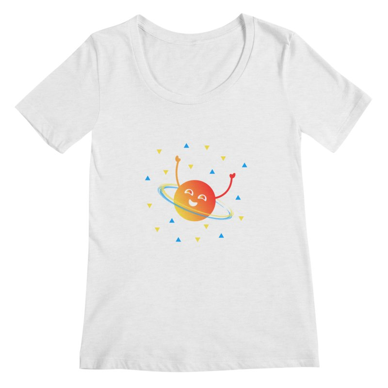 Party Planet Women's Scoop Neck by ashleysladeart's Artist Shop