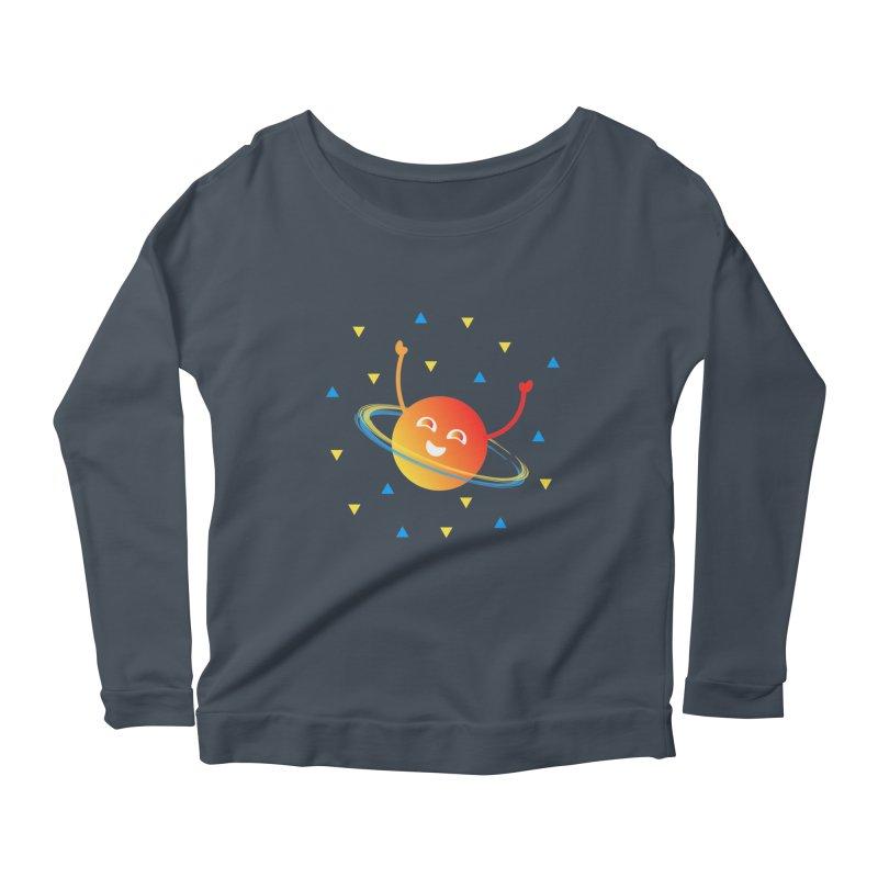Party Planet Women's Scoop Neck Longsleeve T-Shirt by ashleysladeart's Artist Shop
