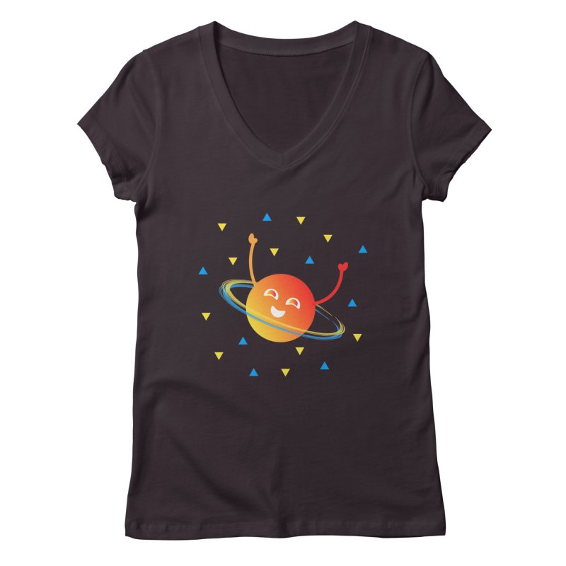Party Planet Women's Regular V-Neck by ashleysladeart's Artist Shop