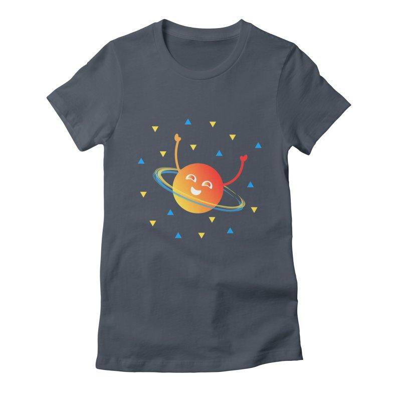 Party Planet Women's T-Shirt by ashleysladeart's Artist Shop