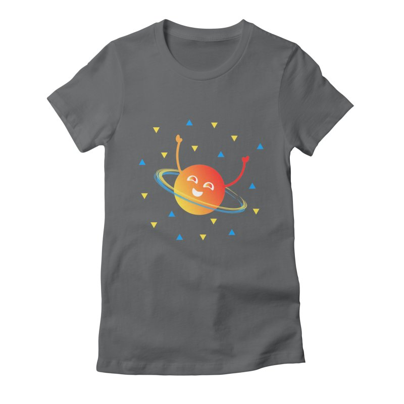 Party Planet Women's Fitted T-Shirt by ashleysladeart's Artist Shop