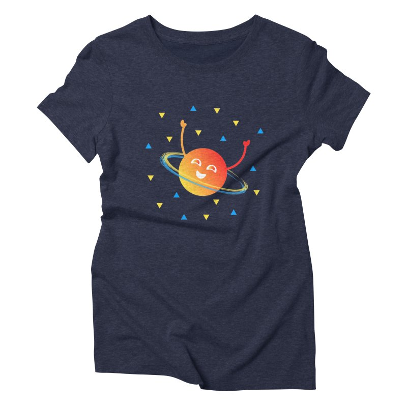 Party Planet Women's Triblend T-Shirt by ashleysladeart's Artist Shop