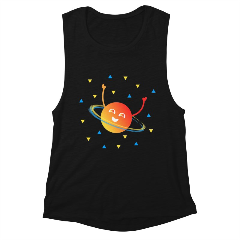 Party Planet Women's Muscle Tank by ashleysladeart's Artist Shop