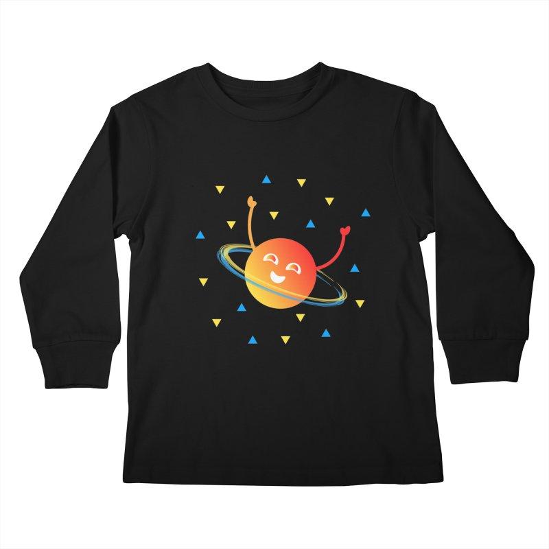 Party Planet Kids Longsleeve T-Shirt by ashleysladeart's Artist Shop