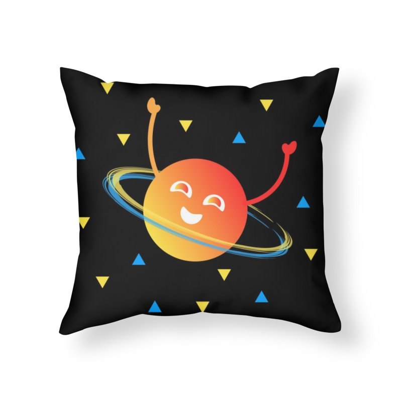 Party Planet Home Throw Pillow by ashleysladeart's Artist Shop